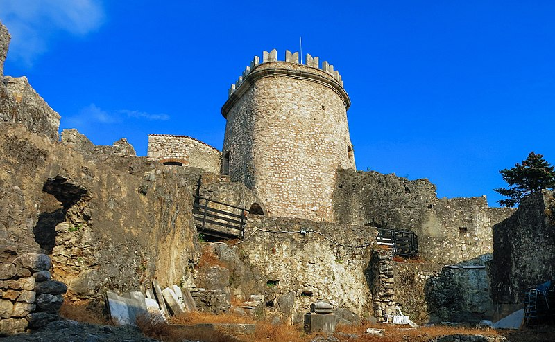 he highest tower of Trsat Castle, a view from northwest. (Rijeka, Croatia)