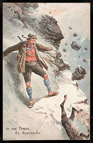 File:Tuck Postcards by Frank Feller-Courtesy of the Newberry Collection-In the Tyrol, an Avalanche-nby LL10454.jpg