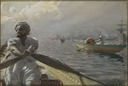 Turkish Boatman in the Constantinople Harbour (Anders Zorn) - Nationalmuseum - 24167.tif