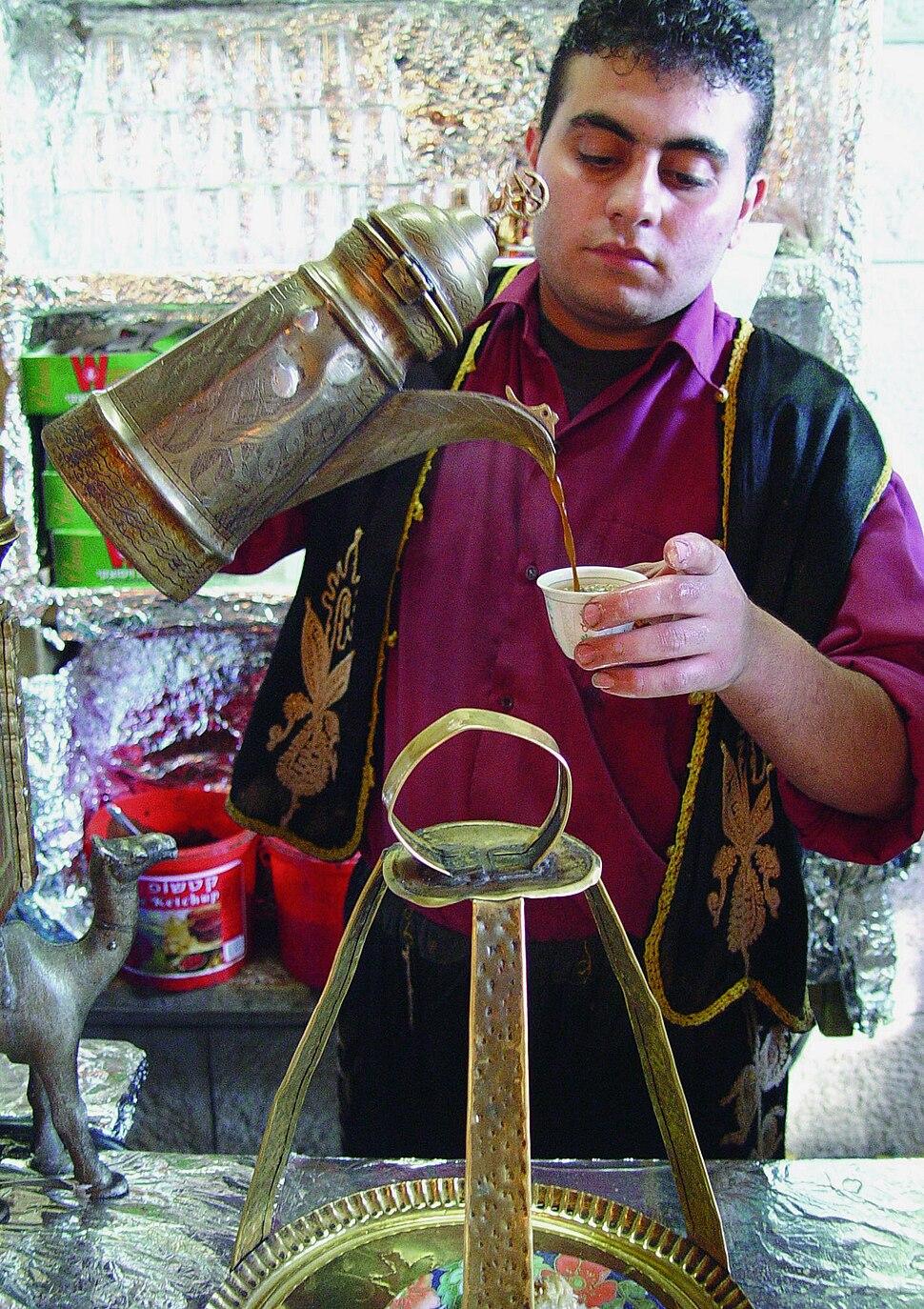 Turkish coffee in Abu Ghosh