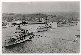 Military history of the Republic of Turkey - The Turkish fleet in Malta, in 1936, prior to World War II. The Navy was the weakest of the three armed services at the outbreak of war.
