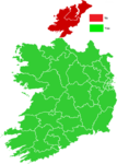Twenty-eighth Amendment of the Constitution of Ireland Bill, 2009 map (results by constituency).png