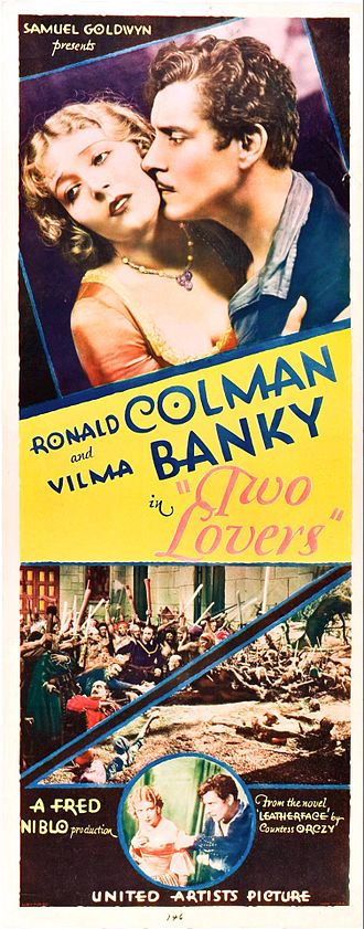 Two Lovers (1928 film) - Film poster