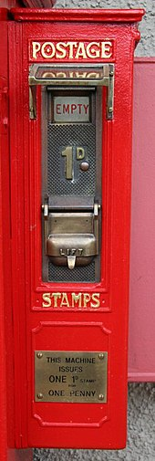 Stamp Vending Machines In The United Kingdom Wikivisually