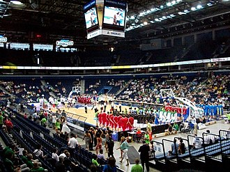 2010 FIBA Europe Under-18 Championship - The championship opening ceremony at Siemens Arena