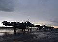 U.S. Air National Guard A-10 Thunderbolt II aircraft assigned to the 104th Fighter Squadron, Maryland Air National Guard arrive at Amari Air Base in Estonia May 31, 2013, prior to the start of exercise Saber 130531-Z-YE885-001.jpg