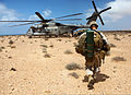 U.S. Marines with Alpha Company, Battalion Landing Team 1st Battalion, 2nd Marine Regiment, 24th Marine Expeditionary Unit load a CH-53E Super Stallion helicopter during African Lion 2012 in Morocco April 14 120414-M-KU932-169.jpg