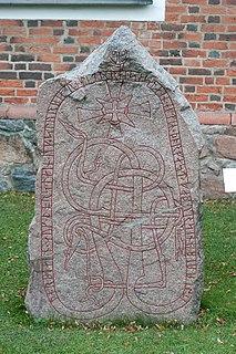 Uppland Runic Inscription 1034 mask stone