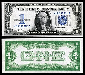Silver certificate (United States) - Image: US $1 SC 1934 Fr.1606