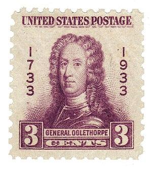 English: Postage stamp, USA, 1933: General Jam...