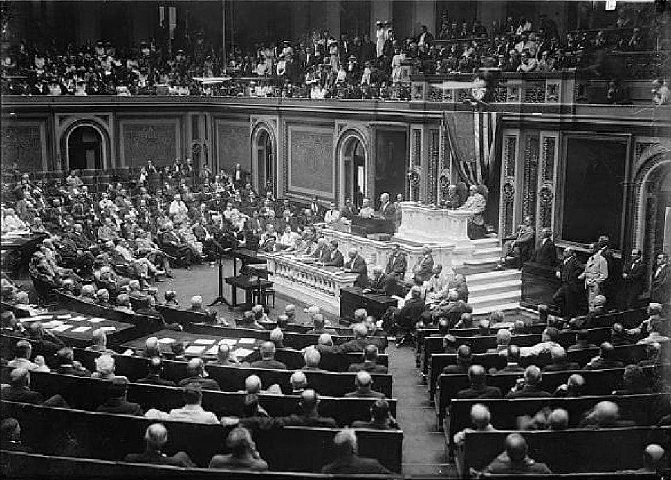 USA bryter de diplomatiska f%C3%B6rbindelserna med Tyskland 3 februari 1917