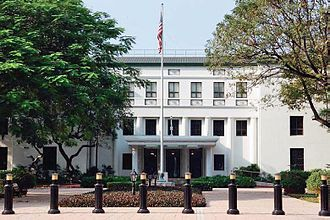 Chancery (diplomacy) - The US Chancery in Manila, Philippines.