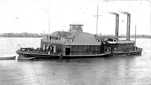 Naval ram -  USS ''General Price'', a Union ram and gunboat, near Baton Rouge, LA, January 18, 1864