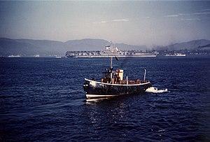 USS Franklin D Roosevelt (CVB-42) anchored in the Med 1952.jpeg