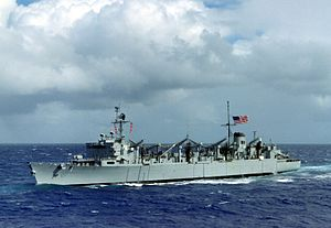 USS Sacramento (AOE-1) underway in 1988