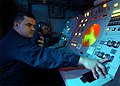 US Navy 020904-N-7871M-001 Fire Controlmen man the firing officer console aboard USS George Washington (CVN 73).jpg