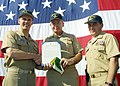 US Navy 021014-N-6633C-004 CNO awards USS La Salle with a Meritorious Unit Commendation.jpg