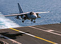 US Navy 040222-N-4374S-004 An S-3B Viking prepares to land aboard the aircraft carrier USS John F. Kennedy (CV 67).jpg