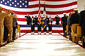US Navy 070322-N-7987M-048 The color guard raises the national ensign during a retirement ceremony for Chief Warrant Officer 5 Frank S. Hankins at Naval Air Station Oceana.jpg