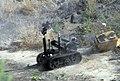 US Navy 080611-N-3289C-110 A Spanish Navy Unidad Especial Desactivad De Explosivo (U.E.D.E) MK II Talon robot disrupts a suspicious package during exercise Magre 08-1.jpg