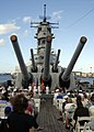 US Navy 090802-N-8539M-557 Guests gather on the deck of the battleship USS Missouri Memorial for the 64th anniversary of the end of World War II.jpg
