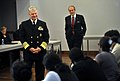 US Navy 100408-N-8273J-067 Chief of Naval Operations (CNO) Adm. Gary Roughead, left, and Polytechnic Institute of New York University President Jerry Hultin speak with students on the campus in Brooklyn, N.Y.jpg
