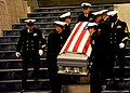 US Navy 101001-N-0354A-001 Chief petty officers carry the body of Senior Chief Cryptologist David Blake McLendon to his memorial service at Thomas.jpg
