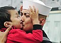 US Navy 110321-N-BT887-100 Hospital Corpsman 2nd Class Neil Palpallatoc embraces his son before deploying aboard the amphibious transport dock ship.jpg
