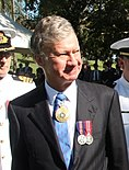 US Navy 110507-N-1X994-001 Members of the U.S. 7th Fleet Band are inspected by acting Governor and Chief Justice of Queensland the Honorable Paul d (cropped).jpg