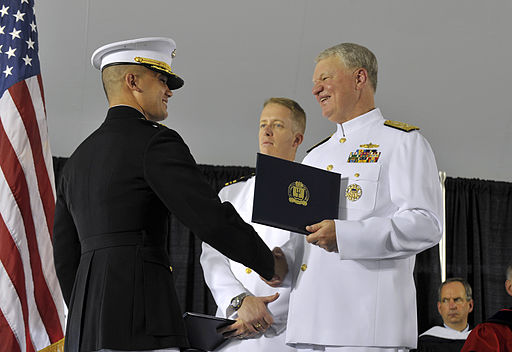 US Navy 110610-N-ZB612-276 Chief of Naval Operations (CNO) Adm. Gary Roughead presents degrees to service members during the U.S. Naval War College