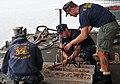 US Navy 111018-N-UD469-055 Navy Diver 1st Class Spencer Puett, left, Navy Diver 2nd Class Timothy Casey, and Navy Diver 1st Class Brody Kraft.jpg