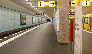 Alt-Tegel (Berlin U-Bahn) railway station in Berlin, Germany