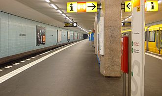 Alt-Tegel (Berlin U-Bahn) - Platform view of Alt-Tegel
