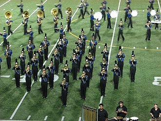 University High School (Irvine, California) - University High's Trojan Marching Band and Color Guard performing.