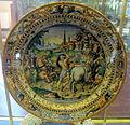Urbino, bottega patanazzi, piatto a raffaellesche con cesare che libera prigioniero (da t. zuccari), 1580-1590 ca..JPG