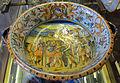 Urbino, bottega patanazzi, rinfrescatoio con achille che si arma x vendicare patroclo, 1590-1610 ca..JPG