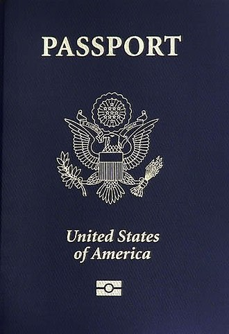 Great Seal of the United States - The U.S. coat of arms on the front of a United States passport.