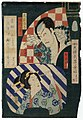 Utagawa Kunisada II - Actor Ichikawa Kodanji IV as Oniazami Seikichi and Yanagibashi Ginpachi.jpg