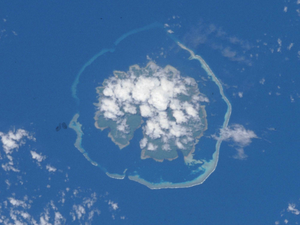 Utupua Island - Utupua from space. Courtesy NASA