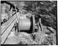 VIEW OF HOIST HOUSE WINCH, LOOKING WEST - Gold Dust Mine, Mill, and Camp Complex, Hoist House, Wards Gulch, Salmon, Lemhi County, ID HAER ID,30-SAL.V,3-H-3.tif