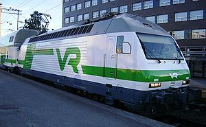 VR Class Sr2 - A Sr2 locomotive at Tampere railway station, June 2012