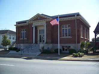 National Register of Historic Places listings in Lowndes County, Georgia - Image: Valdosta GA Carnegie Library 01