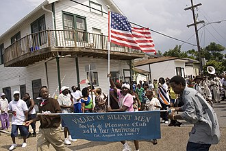 Central City, New Orleans - Second line parade in Central City, 2009