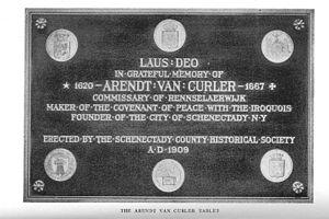 Arent van Curler - Arent van Curler memorial tablet, Nijkerk, Netherlands