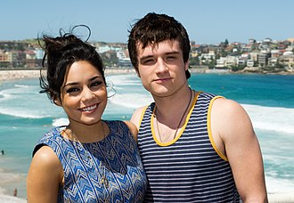 Josh Hutcherson - Hutcherson and Journey 2: The Mysterious Island co-star Vanessa Hudgens in Sydney, January 2012