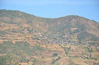 Vangteh Village in southern Tedim Township, Myanmar