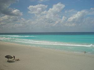 Economy of Cuba - A white sand beach in Varadero, Cuba