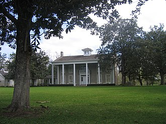 Ima Hogg - Under Ima Hogg's supervision, a new front entrance was created for her home at the Varner plantation.
