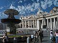 Vatican Piazza San Petro Brunnen.JPG