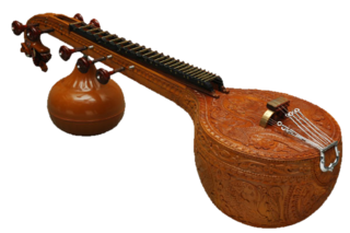 Veena stringed Indian musical instrument